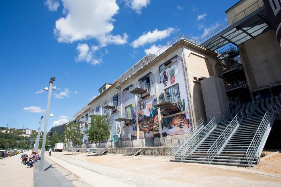 Facade Saone de la Sucrière pour la Biennale d'Art Contemporain 2013- Lyon