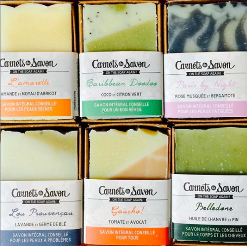 Carnets de savon marque Green