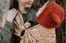 Tinge Garden -kids-echarpe-porteuse-bebe-femme-enfant