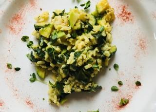 risotto courgettes épinards