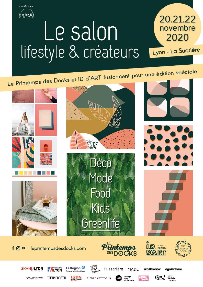 Affiche salon Lifestyle et Créateurs Le Printemps des Docks et ID d'ART fusionnent
